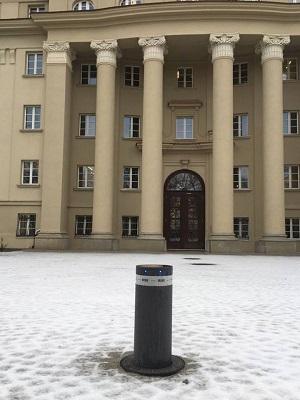 słupki HYDRA / dom studencki Hanka / RISE